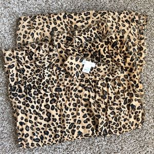 Sole Society Oversized Leopard Print Scarf